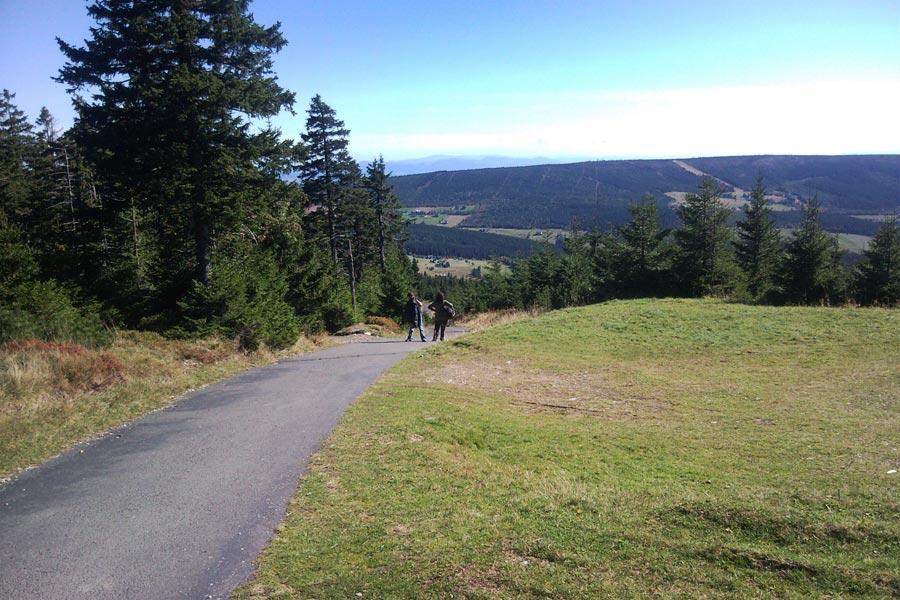 Jelenka (CZ) - Widok ze szczytu
