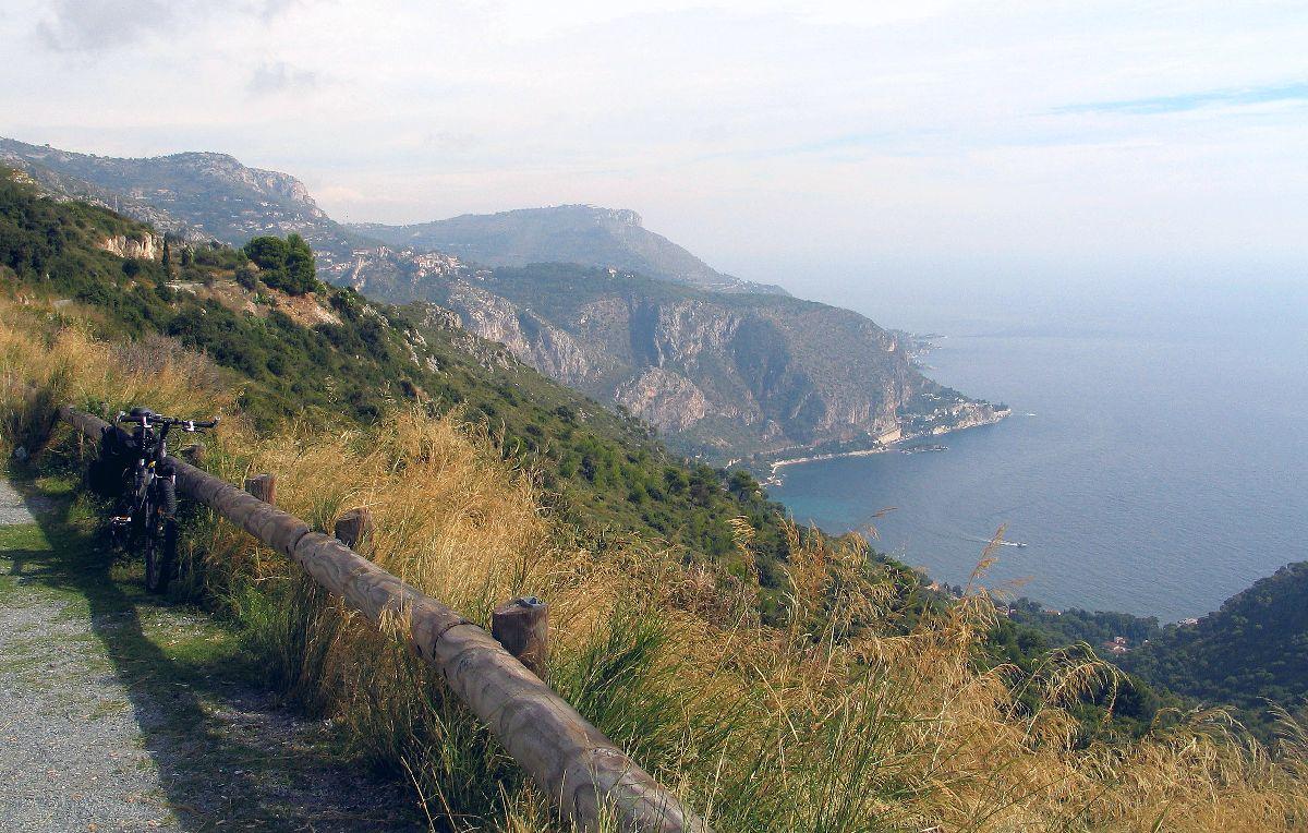Col d'Eze (FRA) - Widok na morze