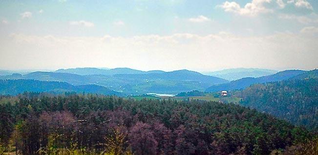 Czchów - Widok z trasy