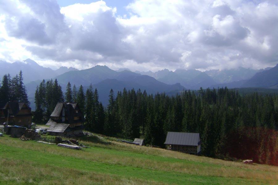 Głodówka - Widok na Tatry.