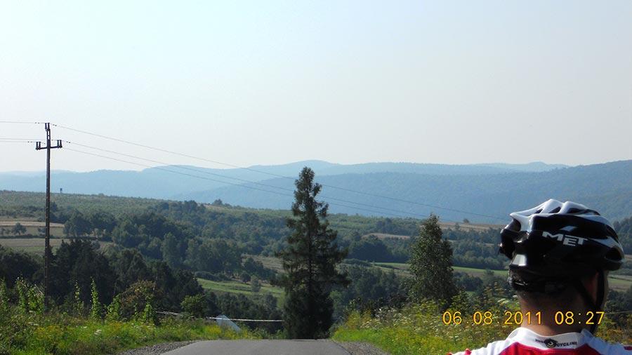 Helusz - Widok na Pogórze Przemyskie