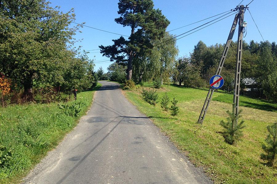 Góry Jamnickie - Końcówka podjazdu