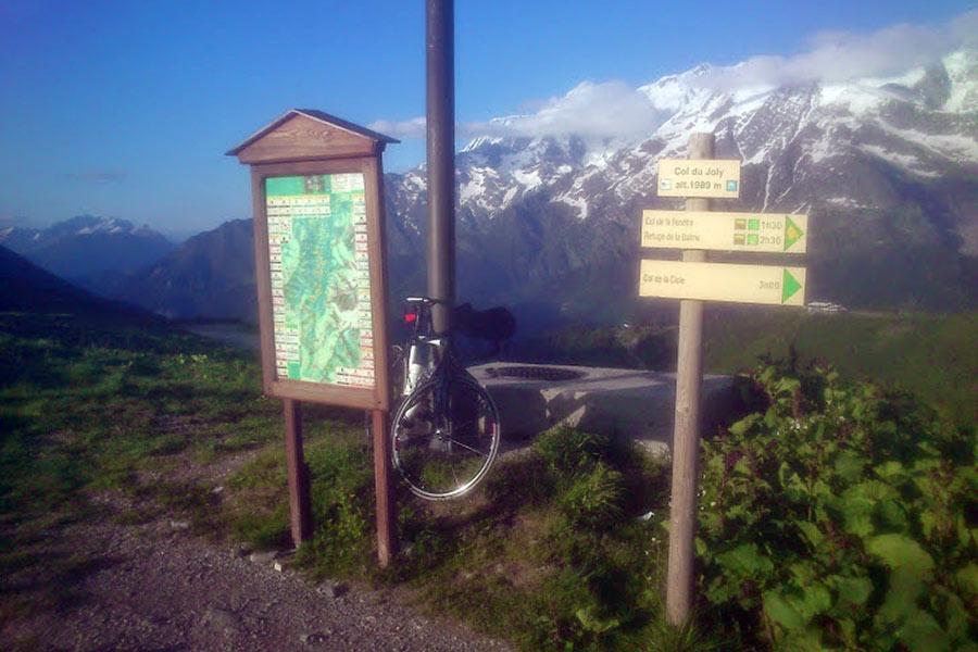 Col du Joly (FRA) - Szczyt podjazdu