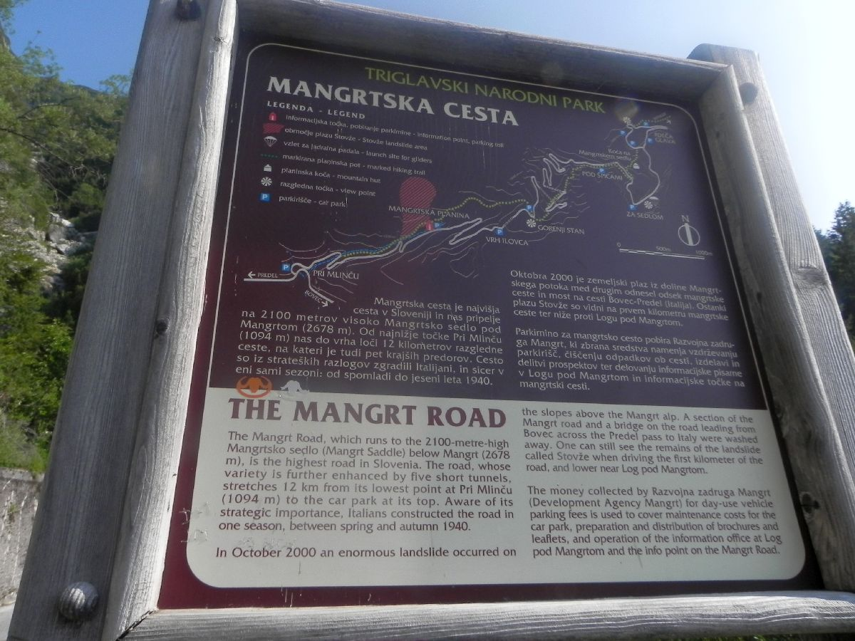 Mangartsko Sedlo (SLO)  - Tablica informacyjna