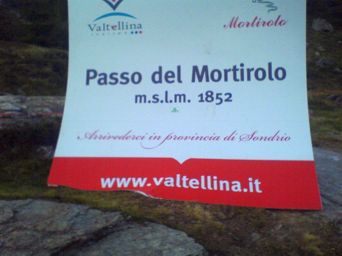 Passo del Mortirolo (ITA) - Tabliczka na mecie