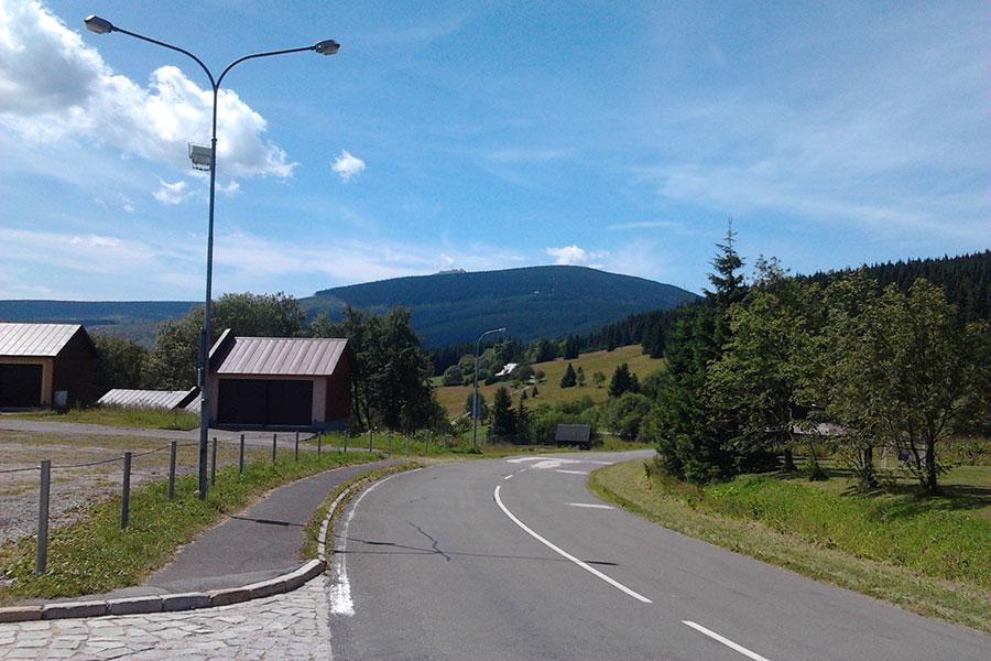 Przełęcz Okraj - Fragment podjazdu