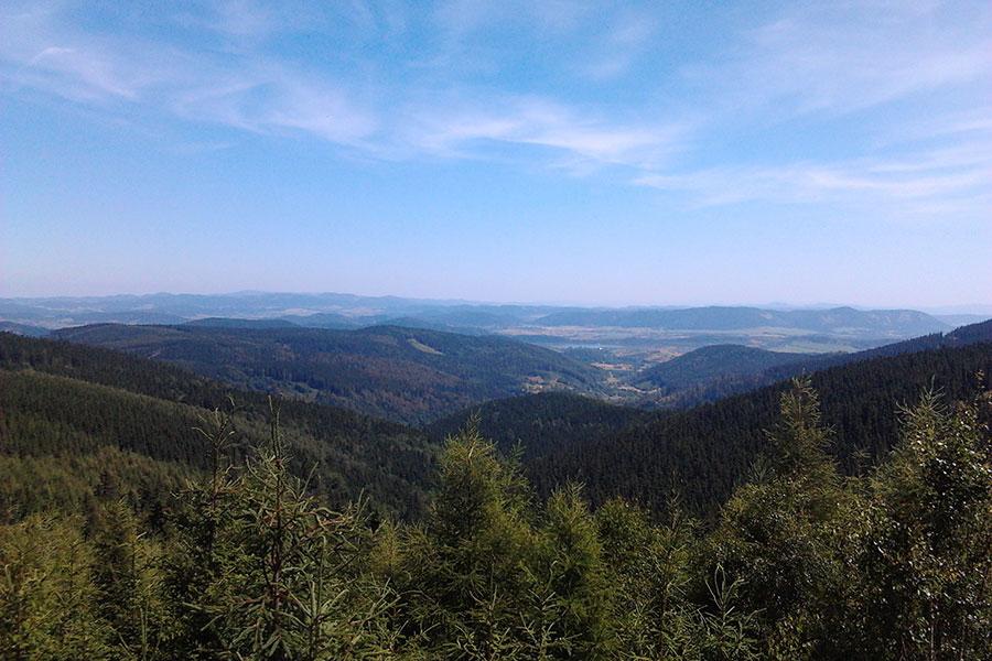Przełęcz Okraj - Widok z trasy