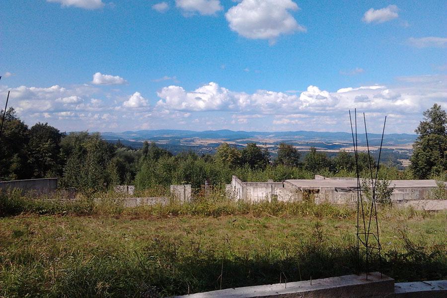Pokrzywno - Widok na okoliczne góry