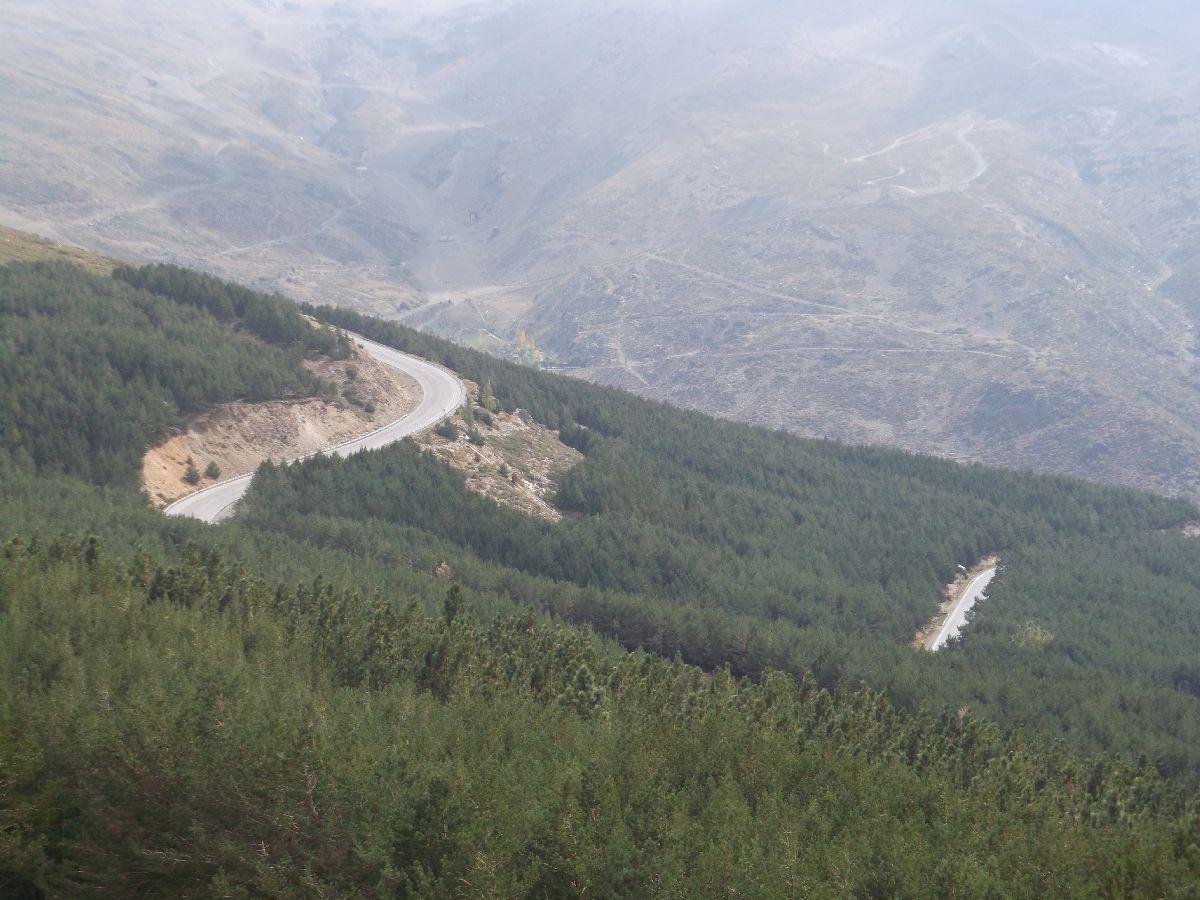 Pico de Veleta (ESP) - Widoki na trasę