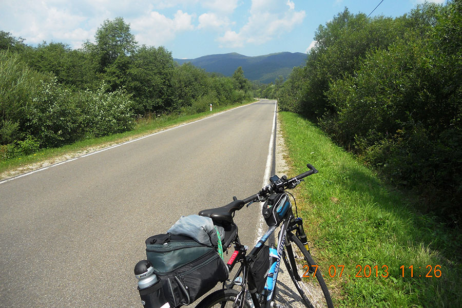 Wołosate - Widok z trasy