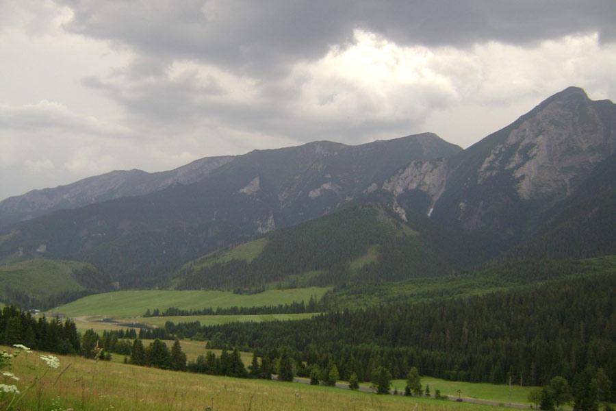 Ždiarskie Sedlo (SVK) - Okoliczne szczyty.