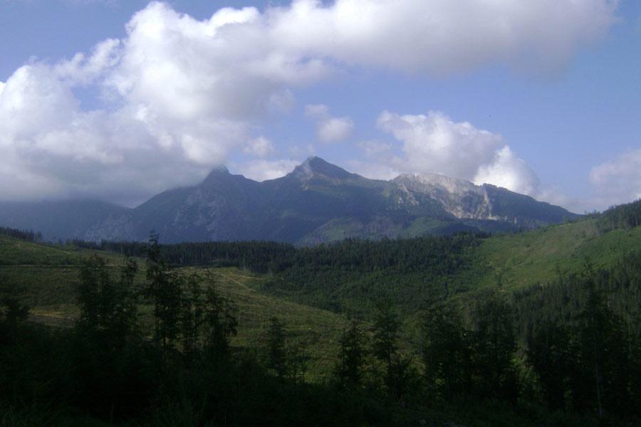 Sedlo  Príslop (SVK) - Widok na góry